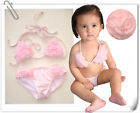 "COSTUME MARE BAMBINA 2 PZ Modello ""Angel's Rose "" 4T 5T Girl Swimsuit"