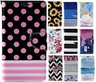 New Cute Stylish Wallet Flip PU Leather Phone Case Cover For iPhone Samsung LG