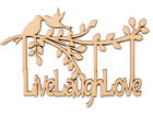 Wooden MDF Tree Branch Shape Live Laugh Love Family Tree Branch Wedding Frame