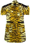 "DOLCE & GABBANA ""Animal Tiger Hemd YM"" womens dress gown (beige/black) NEW"