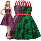 New Women 1950s 60s Retro Taffeta Gown Pinup Housewife Swing Party Evening Dress