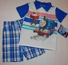 THOMAS AND FRIENDS Toddler Boys 2T 3T 4T Set OUTFIT Shirt Shorts Train Engine