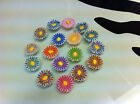 Embroidered DAISY-TINY-Embellishment-20mm-Any Colour Scheme-Tears-Repair-2 trims