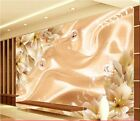 3D Sitting room the bedroom TV the dream flower of background wallpaper 1611