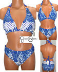 Jessica Simpson Blue Triangle Padded Bikini  Junior's Size XL Pick a Top NWT $89