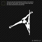 Pole Dancer Sticker Die Cut Decal dancing performing art acrobatics stripper V2