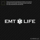 EMT Life Sticker Die Cut lifesaving rescue first responder star life emergency