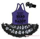 We Have Hero Call Daddy Halter Neck Bodysuit Girls Crown Skull Baby Dress NB-24M