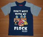BNWT BOYS ANGRY BIRDS T-SHIRT 8-9-10 YEARS 'DONT MESS WITH MY FLOCK'