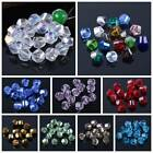Twist Helix Crystal Glass Charms Loose Spacer Beads Lot 6mm/8mm/10mm/12mm