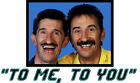 TO ME TO YOU chuckle brothers classic retro 80s tv T SHIRT Men's cool