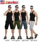 NEW Casual Army Cargo Combat Work Pocket Camo Trousers Shorts Sports Pants