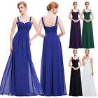NEW Womens Long Chiffon Dress Bridesmaid Evening Formal Party Cocktail Prom Gown