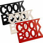 Cookbook Stand in Red, Black and Cream Enamel Recipe Holder Brand New