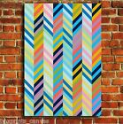 ABSTRACT GEOMETRIC ZIG ZAG CANVAS WALL ART PRINT PICTURE SMALL MEDIUM LARGE