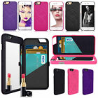 Beauty Makeup Flip Mirror Wallet Card Holder Case Cover for iPhone 5/5S/5SE/6/6S
