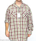 Akademiks Men's $56 Big & Tall Cole Roll Up Red Plaid Button Up Shirt Size 5XL
