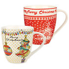 Churchilll China The Caravan Trail Festival Merry Christmas Mug 500ml Seasonal