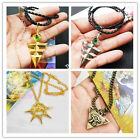 Yu-Gi-OH! Zexal Yuma Gold Silver Bronze Metal Crystal Necklace Pendant Cosplay