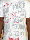 Fatal Clothing Men's Live Too Fast White Tee Shirt Choose Size