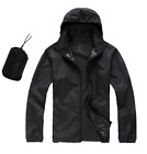 Black Men Women Windproof Waterproof Jacket Bike Bicycle Outdoor Sport Rain Coat