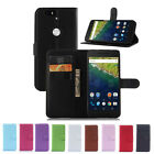 Flip Magnetic Card Wallet PU Leather Case Stand Cover Skin For Huawei Nexus 6P