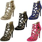 Ladies Spot On Peep Toe Cut Out Detail Sandals - Style 414