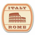 2 x Italy Rome Vinyl Sticker Laptop Travel Luggage Car #6382
