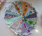 Fabric Bunting Wedding Vintage Shabby & Chic Handmade Floral Rose Pink 6-10m