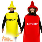 Adult Light Weight Ketchup Mustard Costume Unisex Food and Drink Fancy Dress New
