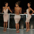 Damen Sexy Bandage rückenfreie Bodycon Party Abend Cocktail Clubwear Minikleid