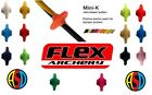 Flex Archery Mini Kisser Button 7mm Choose colour pack of 2
