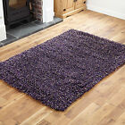 SMALL MEDIUM 7CM THICK PILE WOOL MODERN SHAGGY LILAC DISCOUNT RUGS FOR SALE