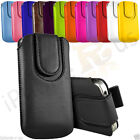 Magnetic Button Flip Pull Tab Leather Pouch Case Cover For Huawei Y360