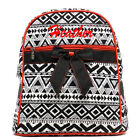 Personalized Black White Red AZTEC Quilted Kids Backpack Book Bag Monogram Name