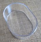 Oval dishes , clear x 12