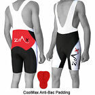 Mens Cycling Bib Shorts MTB Bib Front Cycle Tights Shorts Anti-Bac Padding