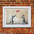 BANKSY NO BALL GAMES POSTER FRAMED WALL ART PRINT PICTURE SMALL MEDIUM LARGE