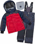 Deux par Deux Boys' 2-Piece Snowsuit Expedition #Brrr! Red, Sizes 4-14