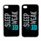 Sleep Is For The Weak |Rubber and Plastic Phone Cover Case| Coffee Insomnia Wake