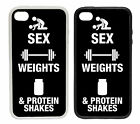 Sex, Weights and Protein Shakes | Printed Rubber and Plastic Phone Cover Case
