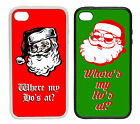 Santa Where's My Ho's At? Cartoon | Printed Rubber and Plastic Phone Cover Case