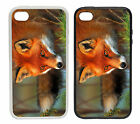 Red Fox Printed Rubber and Plastic Phone Cover Case
