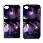 Purple Tinkerbell  Rubber and Plastic Phone Cover Case  Peter Pan Inspired