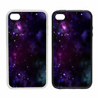 Purple Space |Rubber and Plastic Phone Cover Case| Abstract Design