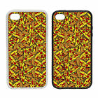 Pizza Pattern | Rubber And Plastic Phone Cover Case | Cool Funny Gift