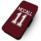 Mccall 11 | Printed Faux Leather Flip Phone Cover Case | Teen Wolf Design