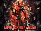 Deadpool Personalized Edible Print Premium Cake Topper Frosting Sheets 5 Sizes