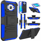 Outer Box Hybrid Belt Clip Holster Stand Case Cover for Samsung Galaxy J3