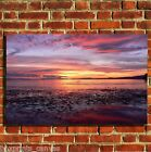 SUNSET SEA SCENERY CANVAS WALL ART BOX PRINT PICTURE SMALL/MEDIUM/LARGE